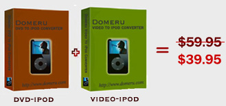 Domeru DVD to iPod Converter + Video to iPod Converter Suite screenshot