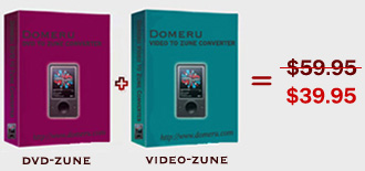 Domeru DVD to Zune Converter + Video to Zune Converter Suite screenshot